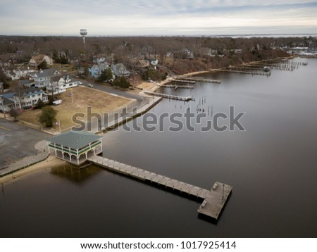 Aerial of Toms River New Jersey #1017925414
