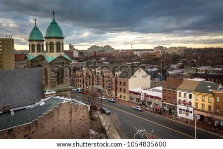 Aerial of Trenton New Jersey #1054835600