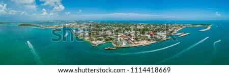Aerial panorama of Key West Florida USA #1114418669