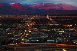 Aerial panorama of Las Vegas