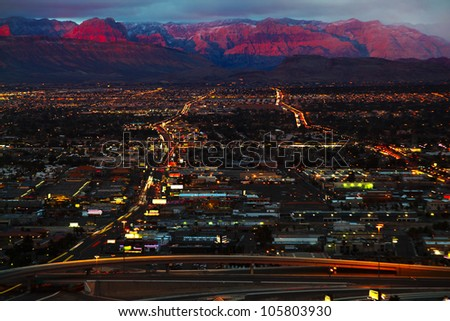 Aerial panorama of Las Vegas