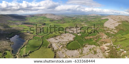 aerial panoramic landscape from ...