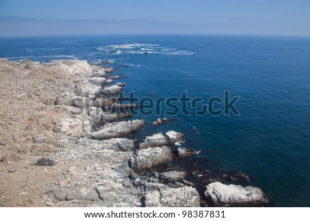 Aerial Panoramic of Chile Coast