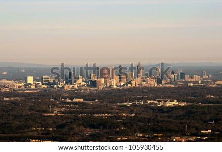 Aerial panoramic view of downtown Atlanta, Georgia