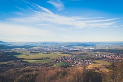 Aerial paysage view in Germany
