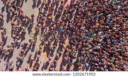Aerial people crowd background Сток-фото ©