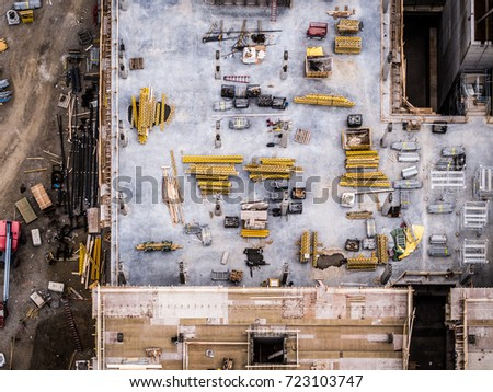 Aerial Photo Construction Site
