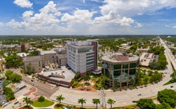 Aerial photo Fort Myers Lee County Justice Complex Center