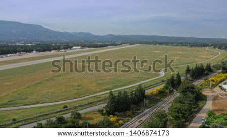 Aerial photo from small airport of Tatoi in North Attica, Greece