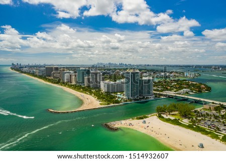 Aerial photo Miami Beach inlet between Haulover and Bal Harbour Foto stock ©