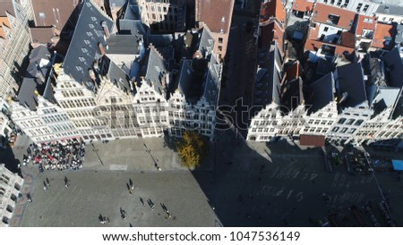 aerial photo of antwerp...