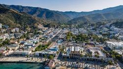 Aerial photo of Avalon, California.