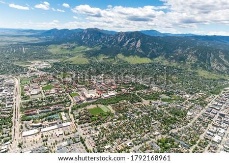 Aerial Photo of Boulder, Colorado ストックフォト ©