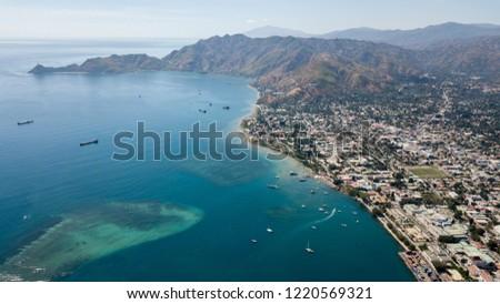 Aerial photo of Dili, Timor-Leste