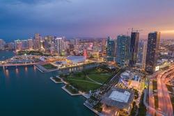 Aerial photo of downtown miami florida usa