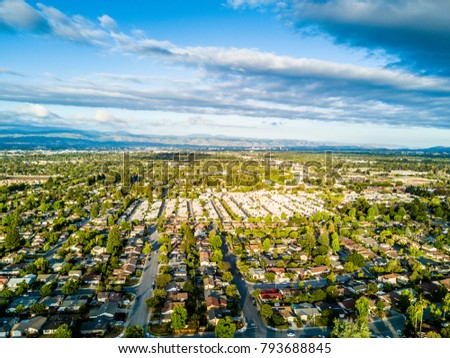 Aerial photo of the Silicon Valley in California #793688845