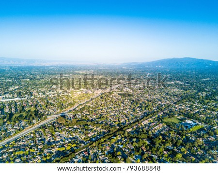 Aerial photo of the Silicon Valley in California #793688848