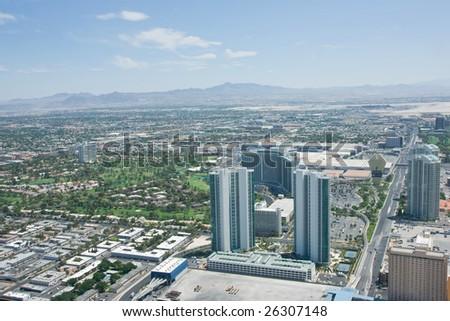Aerial photo over Las Vegas