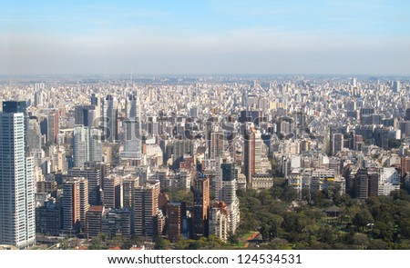 Aerial photo. Panorama of Buenos Aires, Argentina