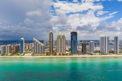 Aerial photo Sunny Isles Beach Florida USA