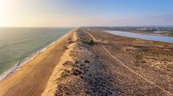 Aerial photograph of a dune, Quinta de Lago, Algarve, Portugal. Close-up.