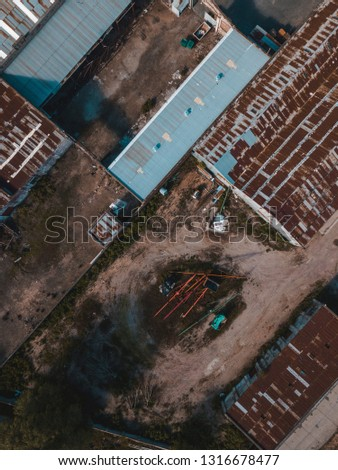 Aerial Photography industrial #1316678477