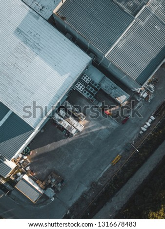 Aerial Photography industrial #1316678483