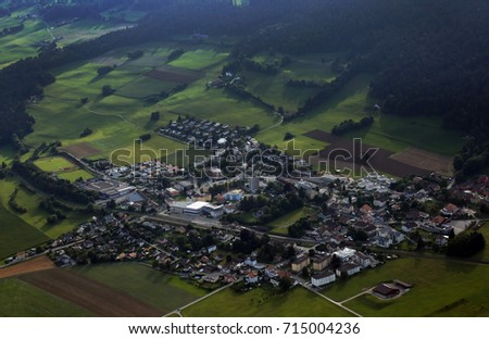Aerial photography of country #715004236