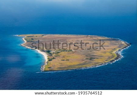 Aerial Photos of Klein Curacao a Caribbean Island Stockfoto ©