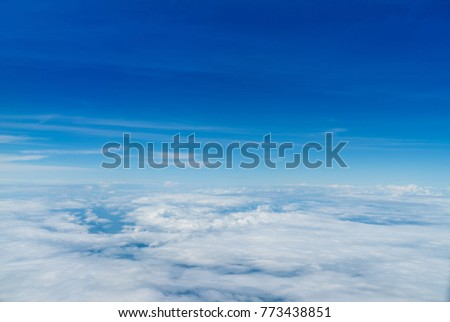 Aerial photos Shows lots of clouds like the sea. And the atmosphere of the airport. Including downtown Chiang Mai. #773438851