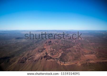Aerial picture of Paraburdoo mine pit site Tom Price Perth, Australia