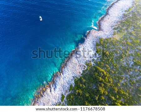 Aerial picture of the Istrian coast