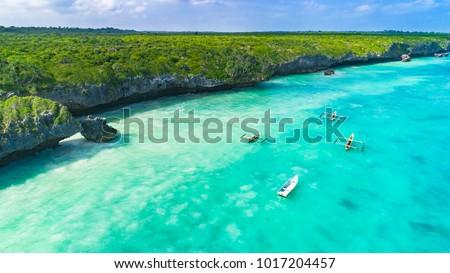 Aerial. Seascape, Zanzibar, Tanzania. Photo stock ©