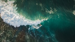 aerial shooting surfing
