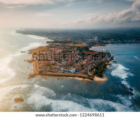 Aerial Shot of Galle Fort, Sri lanka Foto stock ©