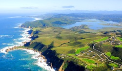 Aerial Shot of Knysna in the Garden Route, South Africa
