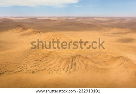 Aerial shot of the dunes in the Namib Desert, Republic of Namibia, Southern Africa