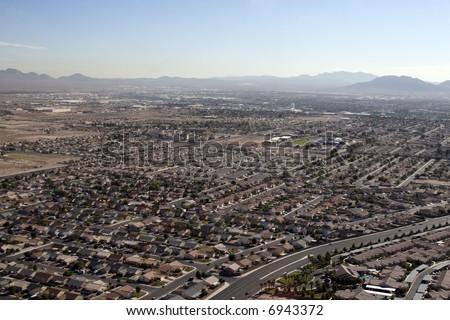 Aerial shot taken in Las Vegas, Nevada, USA