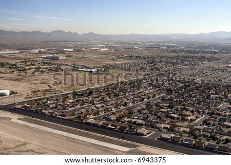 Aerial shot taken in Las Vegas, Nevada, USA