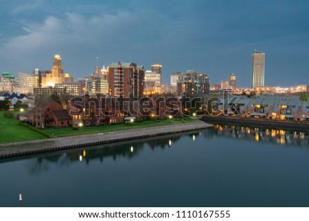Aerial Skyline of Buffalo New York