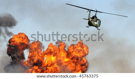Aerial surveillance of industrial fire and explosion