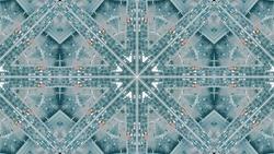 Aerial top down shot of a major city road traffic jam, kaleidoscopic effect