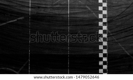 Aerial top view finish line racing background. #1479052646