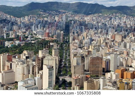 "Aerial urban view – City of ""Belo Horizonte"", Brazil #1067335808"
