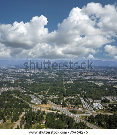 Aerial Vancouver, Surrey and Langley
