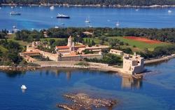 Aerial view Cannes - Iles des Lerins- Monastery Saint Honorat & Sainte Marguerite