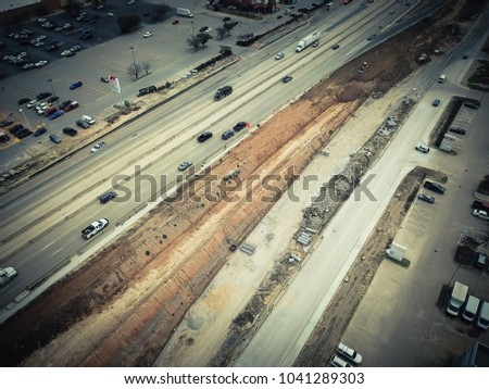 aerial view construction of...