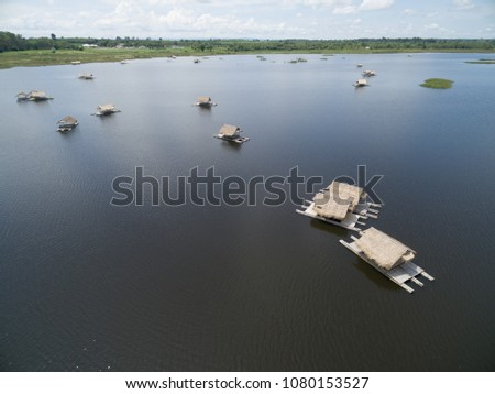 aerial view from drone. group...