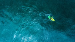 Aerial View from kayaking on Ocean