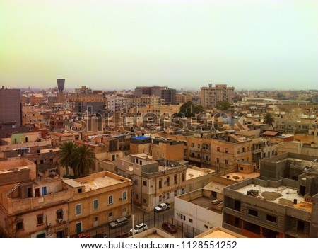 Aerial view from Tripoli, Libya. Stockfoto ©